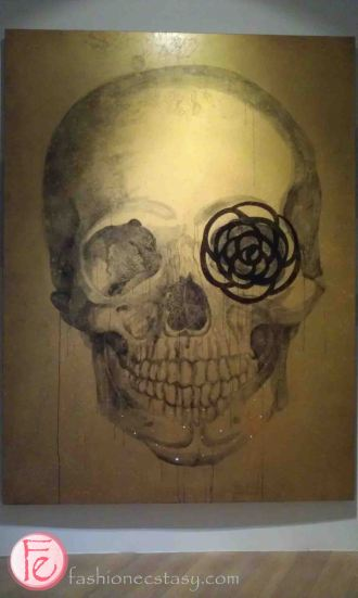 Blinded Skull (Camellia) by Meng-Hung Su - Elle 21st Anniversary 'Art Meets Fashion @ Bellavita