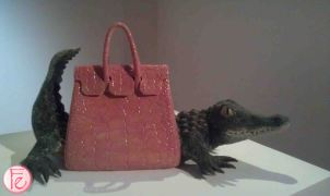 Crocodile Couture by Yu Pei Lian- Elle 21st Anniversary 'Art Meets Fashion @ Bellavita