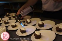 flaming chocolate fudge cake with Sailor Jerry and cinnamon