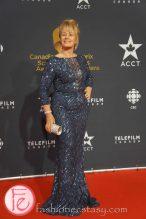 Arlene Dickinson (Dragons' Den) wearing Eli Saab gown, Mark Lash jewelry