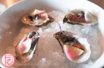 oysters with radish and yuzu vinaigrette