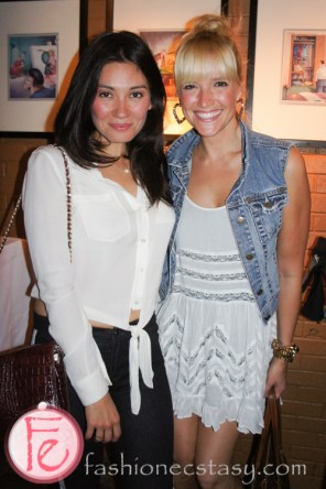 Vanessa Matsui and Stephanie Anne Mills ( Irene and Zoey Jones in Seed) at Mingle for A Mission