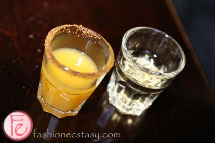 mezcal and orange juice