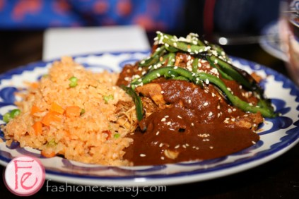 Mole poblano with roasted chicken