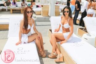 Cabana Pool Bar models in bikini