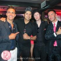 From left, Jose Garcia, Ian D'Sa (Billy Talent) Cone Mccaslin ( Sum 41) Jewellery Designer Peter Christian-Rex Nielsen