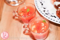 spicy watermelon & tomato soup