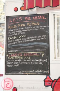 Let's Be Frank menu