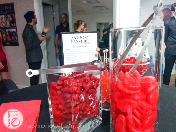 candies at Anthony Passero salon launch Yorkville