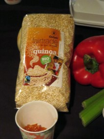 Nettie Cornish Fairtrade Quinoa Chili at eat to the beat 2014