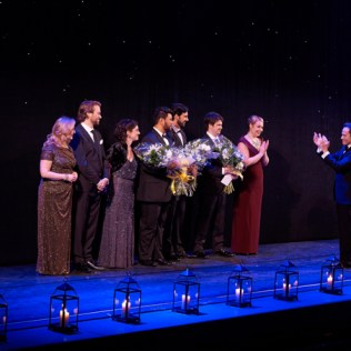 Ensemble Studio Competition finalists and winners with COC Music Director Johannes Debus, 2014