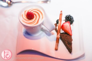 dessert-potted lemon meringue and chocolate silk at wxn awards gala