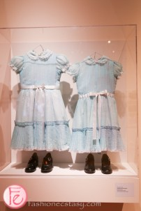 the shining twins costume at stanley kubrick exhibition