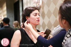Zoe Band dress fitting at hudson's bay for centre stage gala