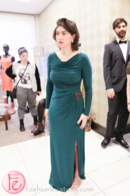 Zoe Band in green gown