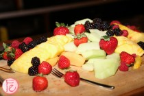fruit platter at casper mattress Canadian launch at drake hotel