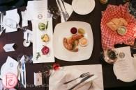 oktoberfest sausage german salad trio schnitzel hub