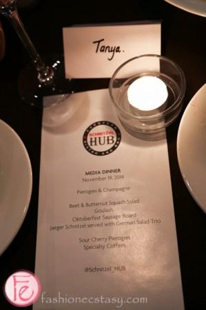 Schnitzel HUB St Claire menu tasting