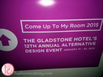 gladstone hotel come up to my room art exhibit