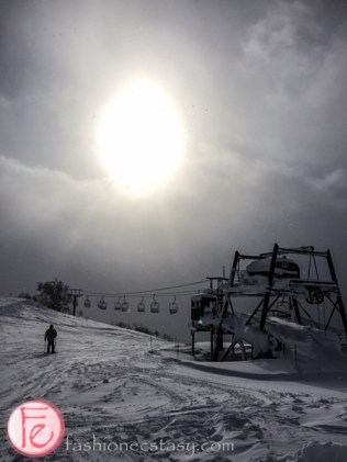 Niseko ski lifts in snow