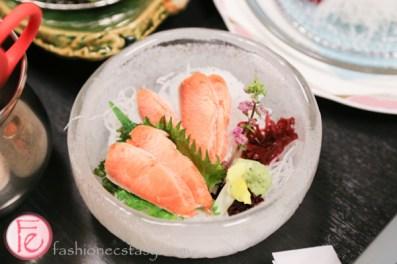 the very rare Keiji Ruibe salmon frozen sashimi Hyousetsu-no-mon