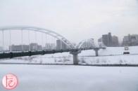 sapporo bridge in snow