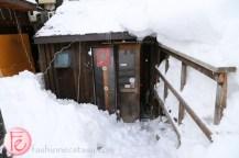 Niseko yakitori place in snow