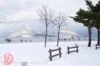 Hokkaido Lake Toya in winter snow