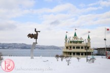 Lake Toya cruise in the winter snow