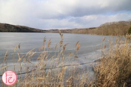 Shiraoi Ainu Museum frozen Lake Poroto