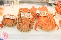 fish market selling king crabs in Otaru