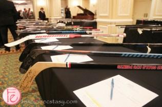 hockey sticks silent auction