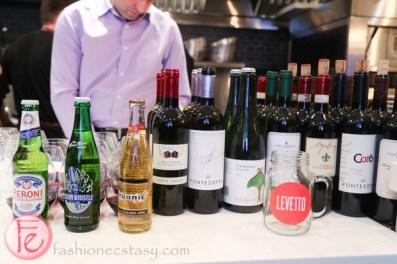 Levetto Italian Restaurant wines