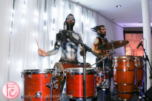 eccentric drummers at riobel 20th anniversary party