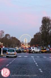 Roue de Paris at sunset