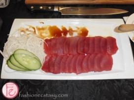tuna sashimi The Forth restaurant World of Whisky Lounge