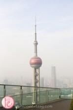 view Shanghai Oriental Pearl Tower from Ritz Carlton