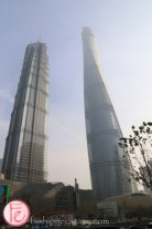 Jin Mao Tower and Shanghai tower