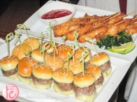sliders and chicken skewers at fairmont royal york