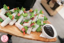 beef and ginger spring roll with a hoisin dipping sauce holts cafe