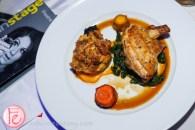 mustard and rosemary rubbed cornish hen