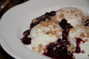 yoghurt panna cotta with oatmeal and berries