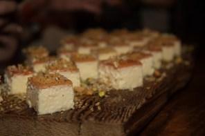 ricotta cheesecake with rhubarb