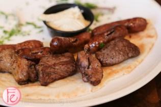 lamb and Sujuk (spicy sausage) skewers