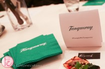 green tanqueray napkins and pizza
