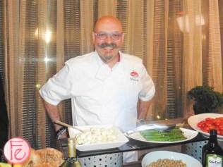 Chef Massimo Capra at italian contemporary film festival closing party
