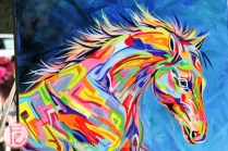 horse painting polo for heart