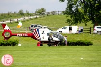 helicopter at polo for heart 2015