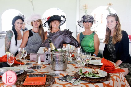 ladies in ascot hats polo for heart