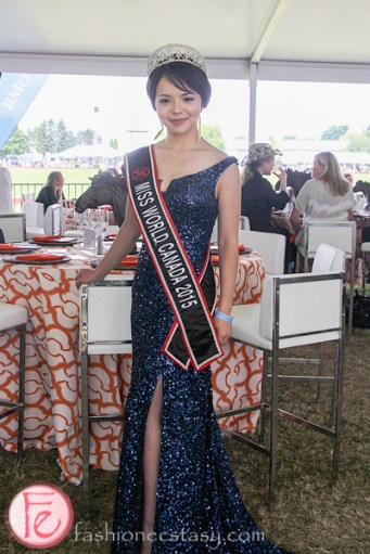 Anastasia Lin Miss World Canada polo for heart 2015